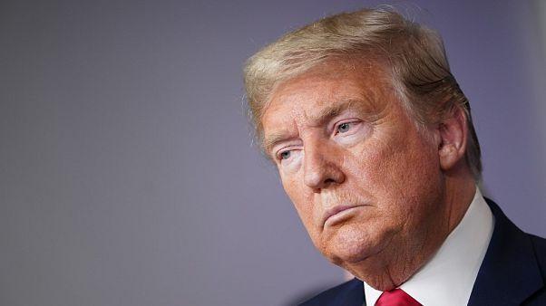 Donald Trump durante una rueda de prensa de información sobre el coronavirus