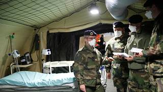 Fransız askerlerin kurduğu sahra hastanesi - Fransa