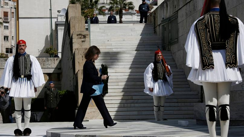 Yannis Kolesidis/Pool via AP