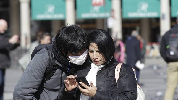 Europe's wave of coronavirus lockdowns has sparked a hike in mobile phone calls.