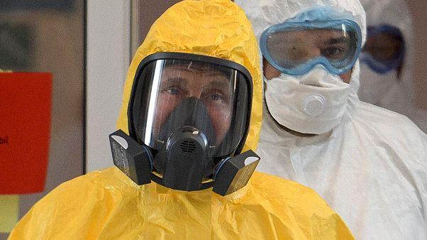 Virus Outbreak Russia Putin