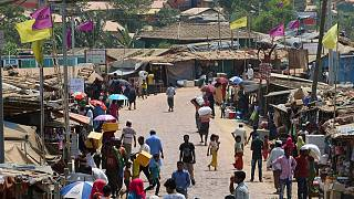 Bangladeş'teki mülteci kampı