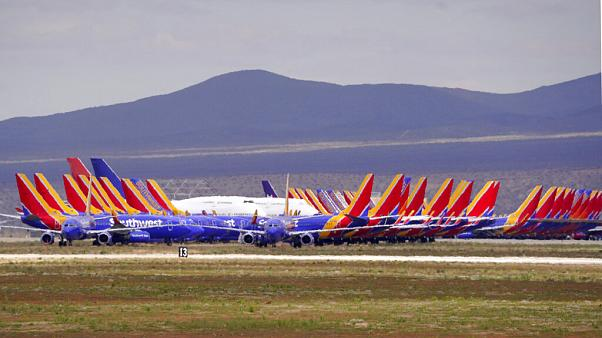 Virus Airline Planes Parked