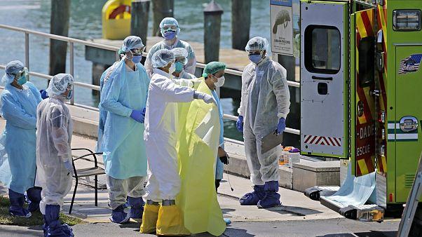 Virus Outbreak Florida Cruise Ships
