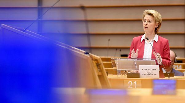 A presidente da Comissão Europeia, Urula von der Leyen