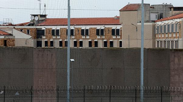 Perpignan's prison on the first day of a strict lockdown in France to stop the spreading of COVID-19, March 17,2020