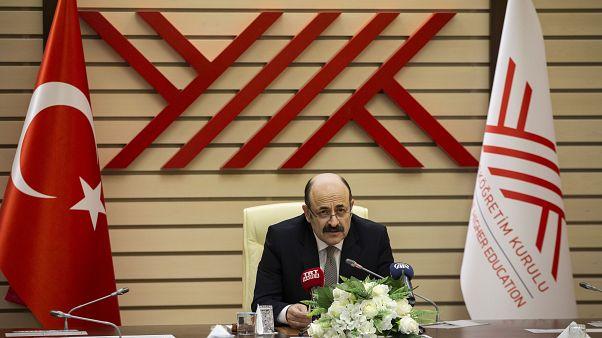 YÖK Başkanı Yekta Saraç, basın toplantısı düzenledi