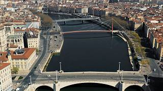 Watch: Drone footage shows stark emptiness of Lyon's lockdown