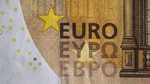 The logo of a 50 Euro banknote