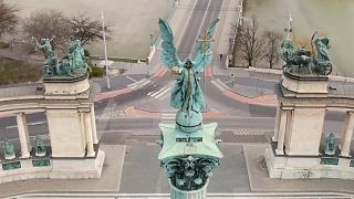 Drone footage shows the empty streets of cities on lockdown