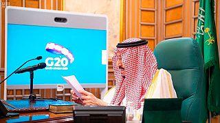 العاهل السعودي الملك سلمان بن عبد العزيز يترأس قمة العشرين عبر الفيديو كونفرنس