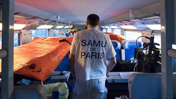 Fransa'da hastaneye dönüştürülen hızlı tren