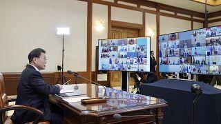 South Korea Presidential Blue House/Yonhap via AP