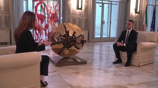 """Di Maio a Euronews: """"Sì a missione Irene, ma con l'emergenza non concederemo i porti"""""""