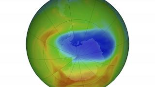 طبقة الأوزون فوق القارة القطبية الجنوبية، ناسا، 20 أكتوبر 2019.