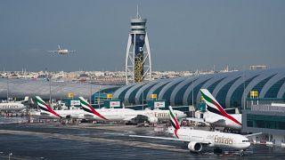 طائرات إماراتية في مطار دبي الدولي
