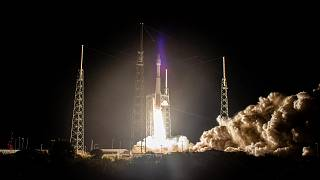 The United Launch Alliance Atlas V rocket, carrying the Solar Orbiter, lifts off