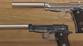 """A Beretta 'Cheetah' handgun featured in """"Die Another Day"""""""