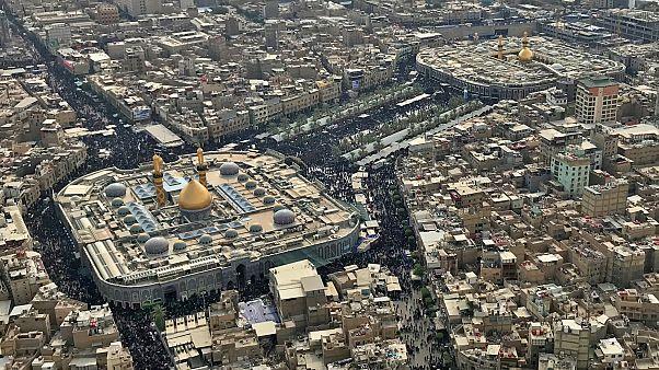 ویدئو؛ حرم امام سوم شیعیان در کربلای عراق ضدعفونی شد