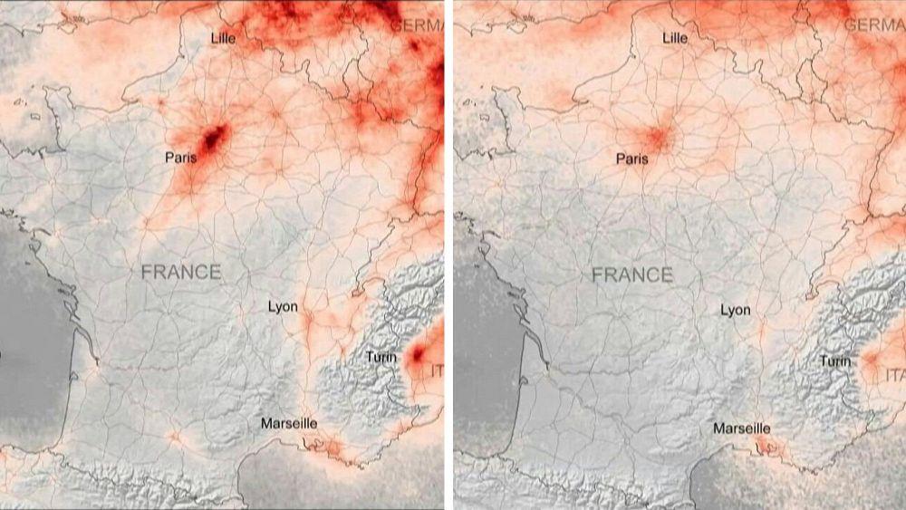 Europa respira aire más fresco bajo encierro mientras las medidas de coronoavirus alivian la contaminación 66