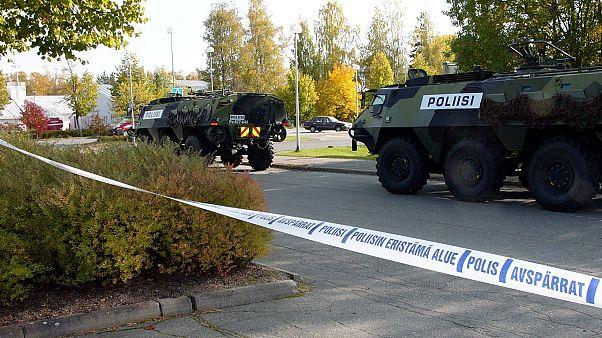 Finlandiya'da zırhlı polis aracı (arşiv)