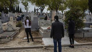 Похороны в Мадриде в разгар пандемии, 27 марта 2020