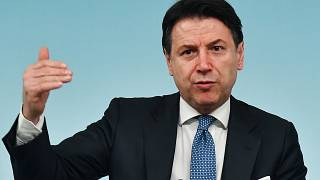 In this photo taken on March 04, 2020 Italy's Prime Minister Giuseppe Conte speaks during a press conference held at Rome's Chigi Palace