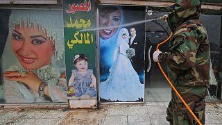 حملة تعقيم في العاصمة العراقية بغداد