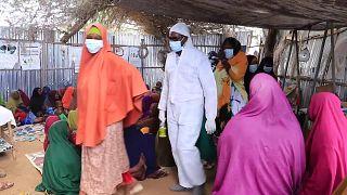 ترس آوارهگان از شیوع ویروس کرونا در اردوگاهی در سومالی