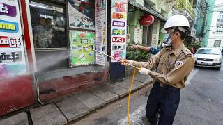 Coronavirus-Pandemie: Großflächige Desinfektionen in Myanmar und Äthiopien