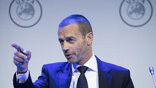 La temporada de fútbol europeo podría estar perdida, avisa el presidente de la UEFA