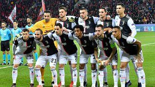 Juventus line up in December 2019