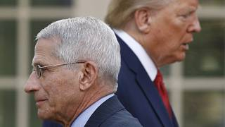 Donald Trump et le Dr Anthony Fauci à la Maison Blanche, le 29 mars 2020