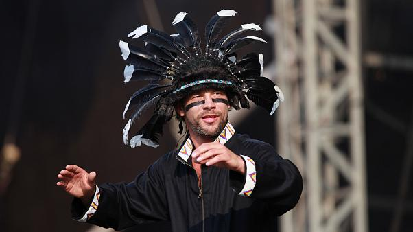Jamiroquai performing at the 'Hard Rock Calling 2010' event in Hyde Park, London. Saturday, June 26, 2010. (AP Photo/Andy Paradise) **EDITORIAL USE ONLY**
