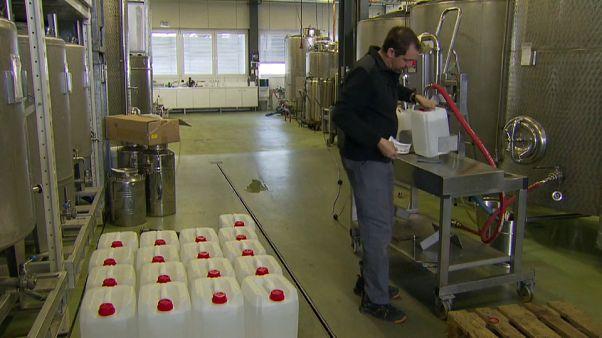 Covid-19 : un appel aux dons d'alcool pour fabriquer des produits désinfectants
