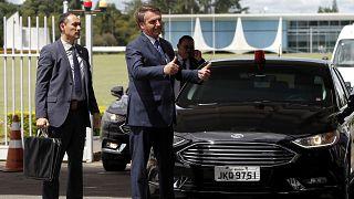 الرئيس البرازيلي بولسونارو يغادر إقامة قصر الفرادى الجمهوري - 2020/03/13
