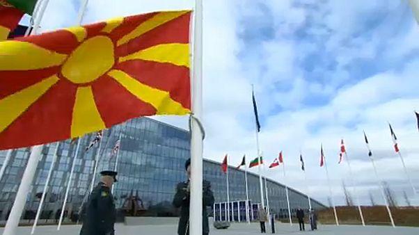 Η σημαία της Βόρειας Μακεδονίας κυματίζει στο ΝΑΤΟ