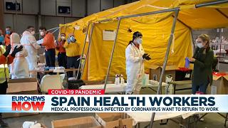 COVID-19 survivors bring hope and purpose to Spanish hospital workers