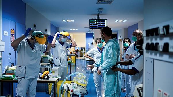 Belçika'da sağlık çalışanları