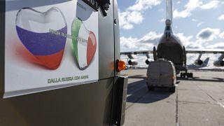 Virus Outbreak Russia Italy