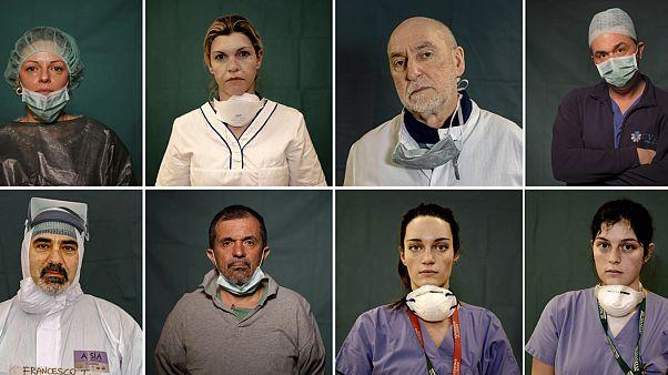 FOTO - I volti di medici e infermieri in corsia contro il coronavirus