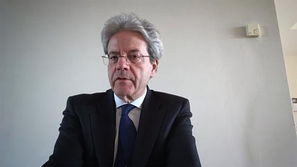 """Paolo Gentiloni says the EU prepares a """"general recovery plan"""" from coronavirus crisis"""