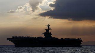 Le porte-avions américain USS Theodore Roosevelt dans la baie de Manille - Philippines - le 13 avril 2018