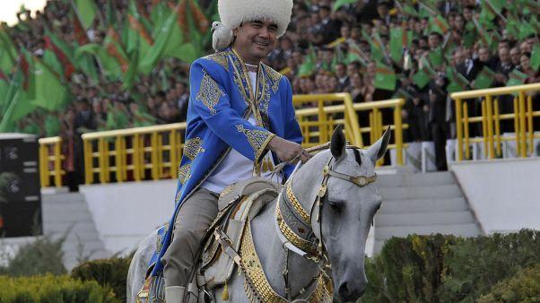 Turkmenistans Präsident Gurbanguli Berdymukhamedov im Jahr 2011