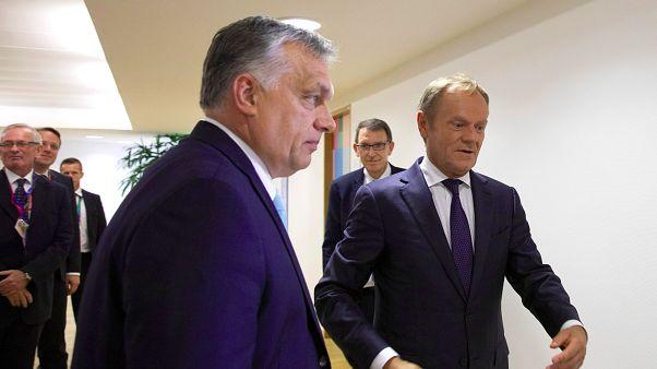 Tusk szerint néhány politikus olyan mint a vírus: az EPP elnöke Orbántól félti az EU-t