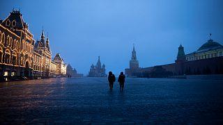 صورة للميدان الأحمر بالعاصمة الروسية موسكو