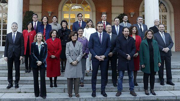 اعضاء کابینه دولت اسپانیا به نخست وزیری پدرو سانچز
