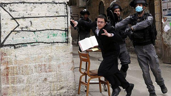 یهودیهای افراطی اسرائیل محدودیتهای کرونایی را رعایت نمیکنند