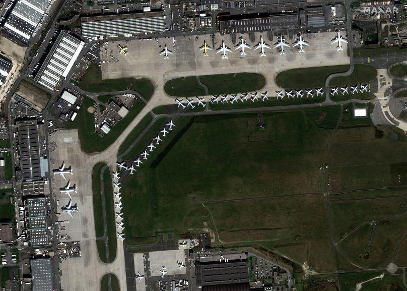 Satellite image ©2020 Maxar Technologies via AP