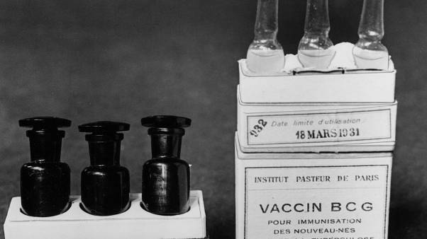 March 1931 image of Vaccine BCG ampullae against tuberculosis taken at a laboratory at the Institute Pasteur in Paris, France. (AP Photo/Alfred Eisenstaedt)